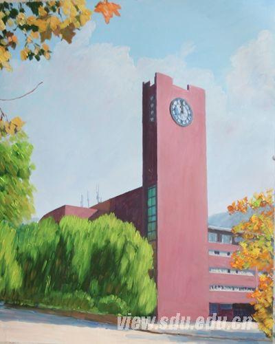 威海校区-图志 油画山大 刘敏油画作品图片